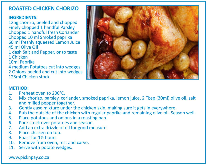 Roasted Chicken Chorizo