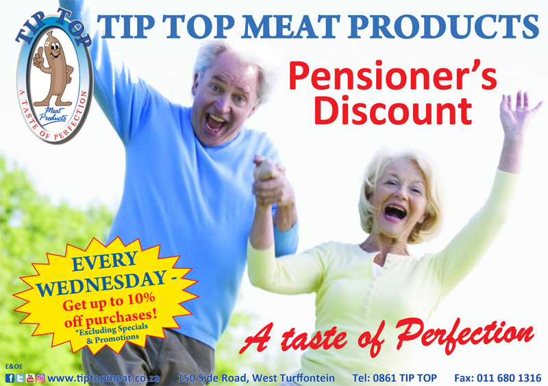 Pensioners Discount Wednesday