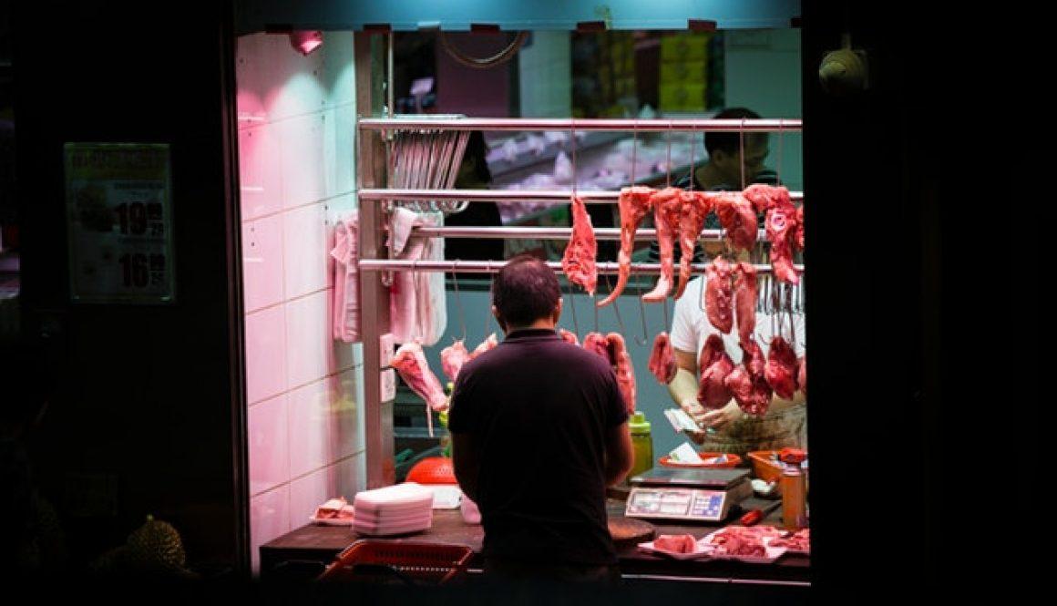 Butchery with customer